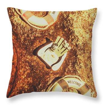 Rustic Beach Decorations  Throw Pillow