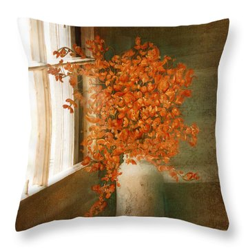 Rustic Bouquet Throw Pillow
