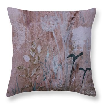 Throw Pillow featuring the painting Rustic Breeze by Robin Maria Pedrero