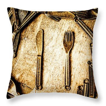 Rustic Catering Throw Pillow