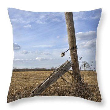 Rustic Charm Throw Pillow by Inspired Arts