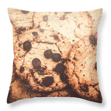 Chocolate Chips Throw Pillows
