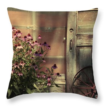 Rustic Corner Throw Pillow