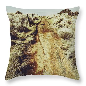 Rustic Country Trails Throw Pillow