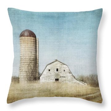 Rustic Dairy Barn Throw Pillow