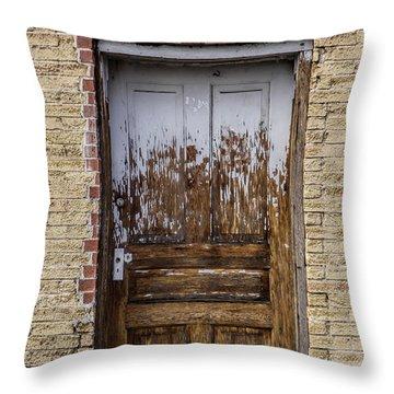Rustic Door Throw Pillow