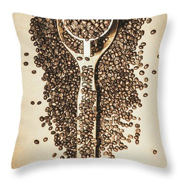 Rustic Drinks Artwork Throw Pillow