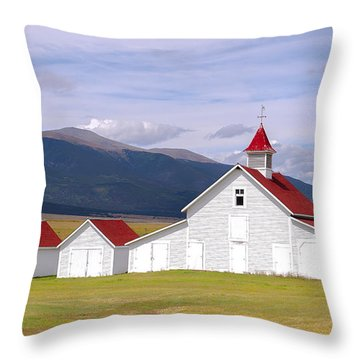 Rustic Farm Setting Throw Pillow