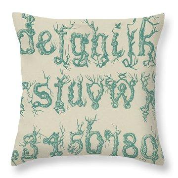 Rustic Font Throw Pillow