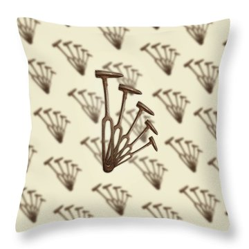 Rustic Hammer Pattern Throw Pillow by YoPedro