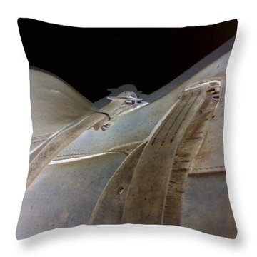 Rustic Horse Saddle Throw Pillow