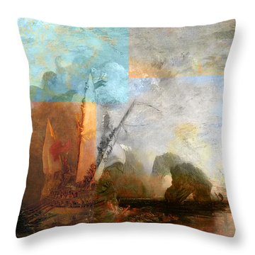 Rustic I Turner Throw Pillow by David Bridburg