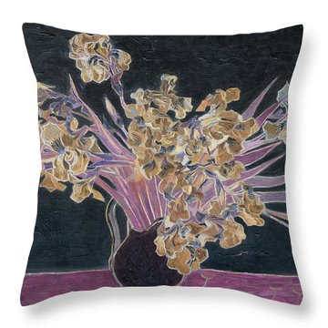 Rustic II Van Gogh Throw Pillow by David Bridburg