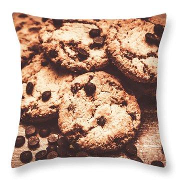 Rustic Kitchen Cookie Art Throw Pillow