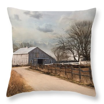 Throw Pillow featuring the photograph Rustic Lane by Robin-Lee Vieira