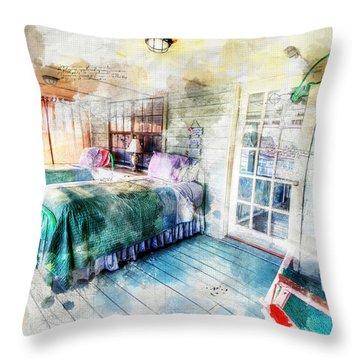 Rustic Look Bedroom Throw Pillow
