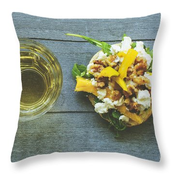 Rustic Lunch With Goat Cheese Throw Pillow