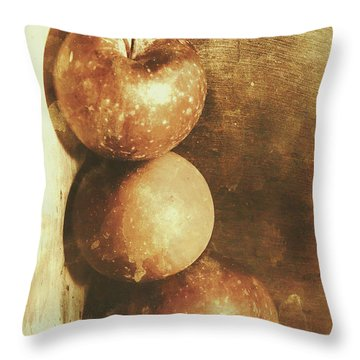 Rustic Old Apple Box Throw Pillow