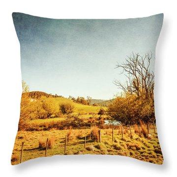 Rustic Pastoral Australia Throw Pillow