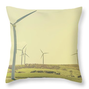 Rustic Renewables Throw Pillow