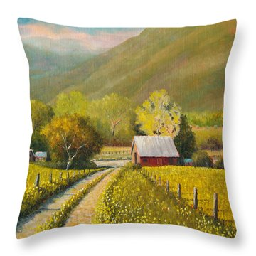 Rustic Road Throw Pillow