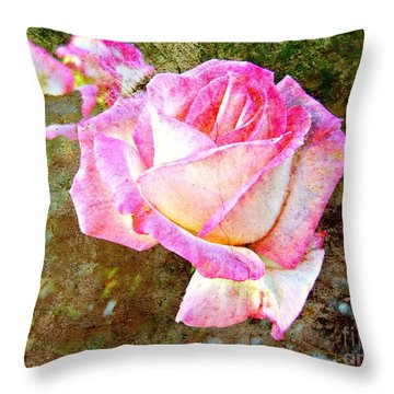 Rustic Rose Throw Pillow