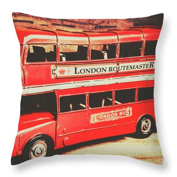 Rustic Routemaster Throw Pillow