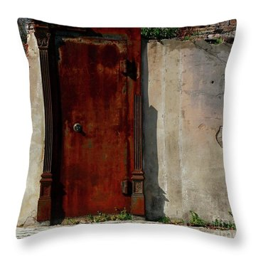 Rustic Ruin Throw Pillow