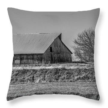 Rustic Rural Iowa Throw Pillow