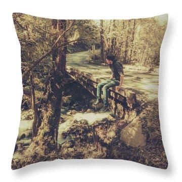 Rustic Rural Retreat Throw Pillow