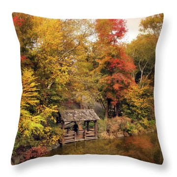 Rustic Splendor Throw Pillow by Jessica Jenney