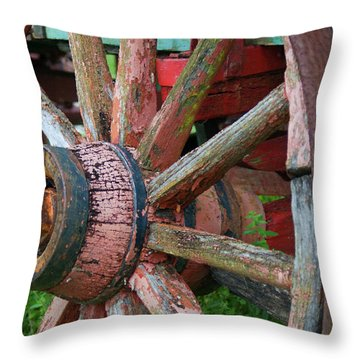 Rustic Spoke Throw Pillow