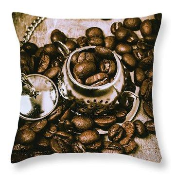 Rustic Teapot Art Throw Pillow