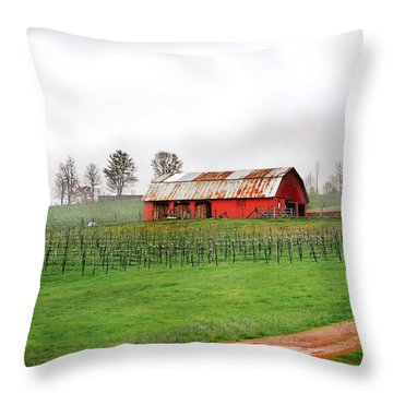 Rustic Wine Throw Pillow