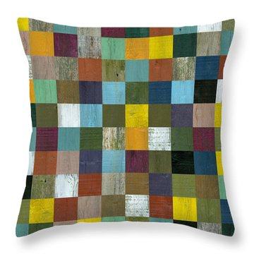 Rustic Wooden Abstract 100 Throw Pillow