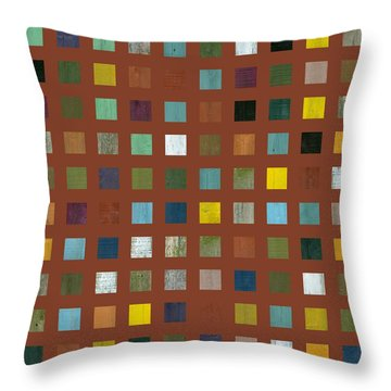 Rustic Wooden Abstract Vll Throw Pillow by Michelle Calkins
