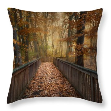 Throw Pillow featuring the photograph Rustic Woodland by Robin-Lee Vieira