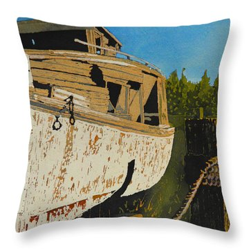 Rusting Away Throw Pillow by Terry Honstead