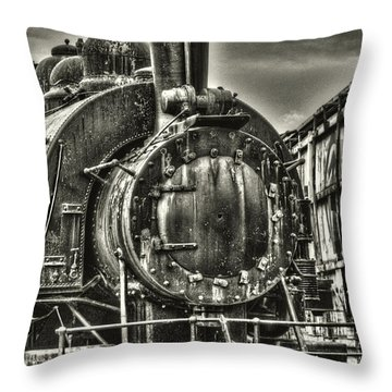 Rusting Locomotive Throw Pillow