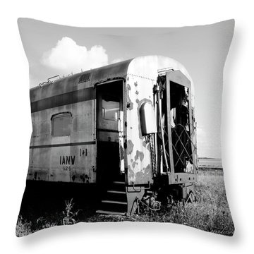 Rusting On The Rails Throw Pillow