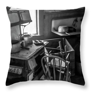 Rusting Pots And Pans, Bodie Ghost Town Throw Pillow
