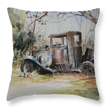 Rusting Relic  Throw Pillow