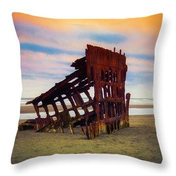 Rusting Shipwreck Throw Pillow