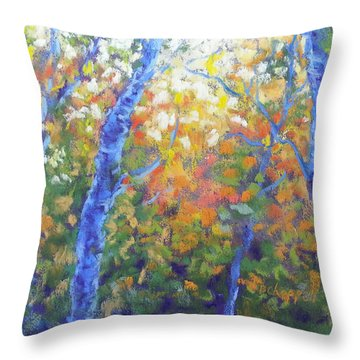 Rustlers Gulch Afternoon Throw Pillow by Becky Chappell