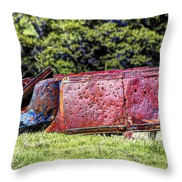 Rusty And Forgotten Throw Pillow