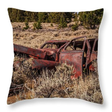 Rusty Automobile Throw Pillow by Sue Smith