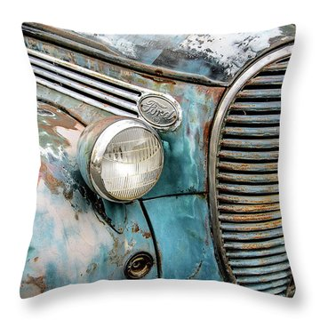 Rusty Blues Throw Pillow