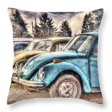 Throw Pillow featuring the photograph Rusty Bugs by Jean OKeeffe Macro Abundance Art