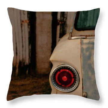 Rusty Car Throw Pillow by Heather Kirk