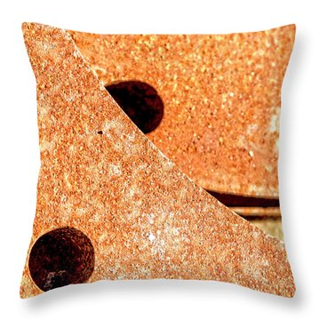 Rusty Circle Throw Pillow